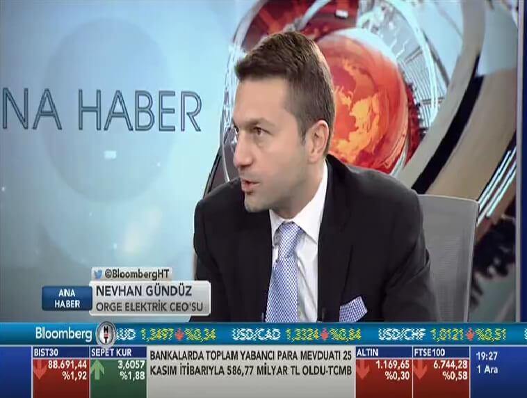CEO'muz Nevhan Gündüz Bloomberg Ana Haber'e konuk oldu.