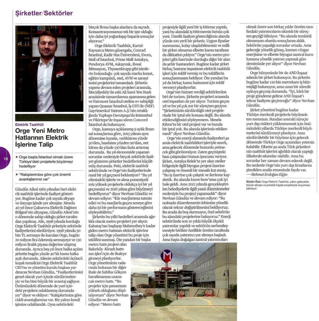 CEO'muz Nevhan Gündüz'ün Bloomberg Businessweek Dergisi'nde yer alan açıklamaları